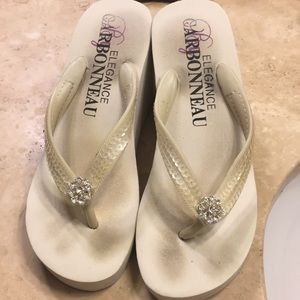 bd0fd817c76b Women s White Platform Sandals Wedding on Poshmark